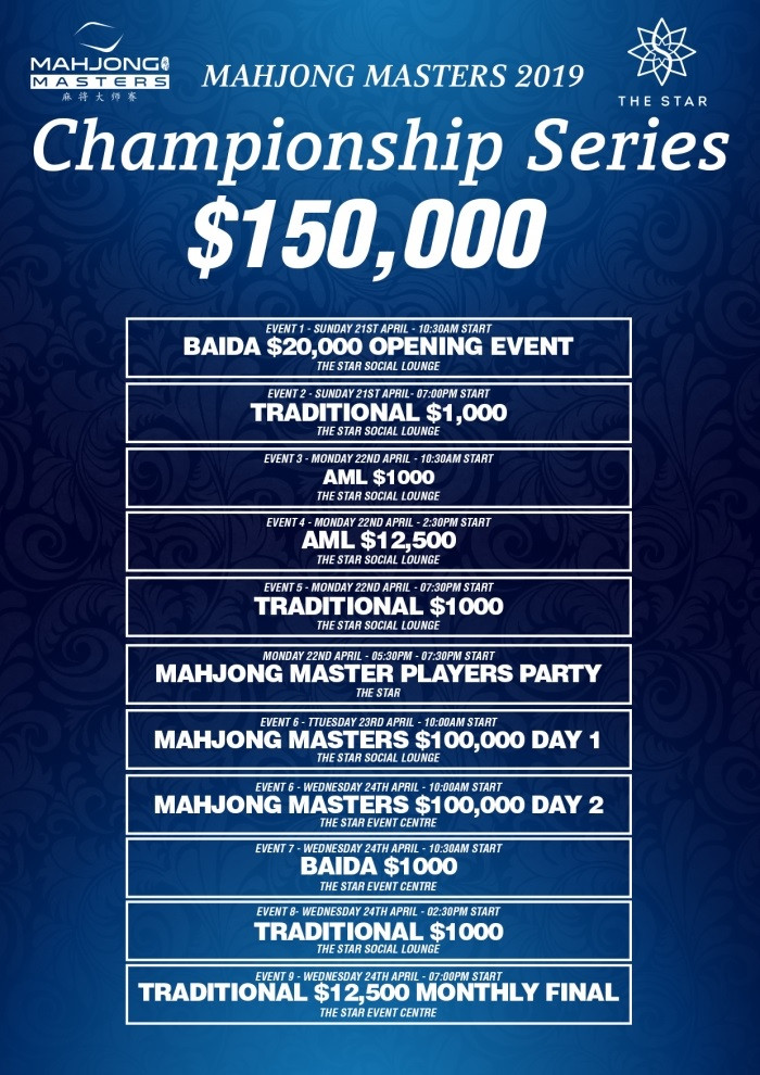 Mahjong Masters Tournament in Sydney, Australia 2019