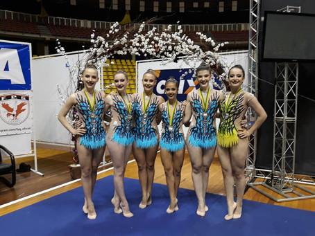 Torneio Nacional de Ginástica Rítmica tem equipe geraldina no pódio
