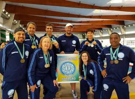 Geraldinos garantem 'chuva de medalhas' na 3ª etapa do Circuito Gaúcho de Natação Master