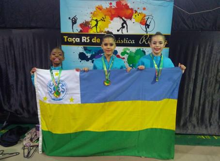 Atletas geraldinas conquistam o ouro na Taça RS de Ginástica Rítmica