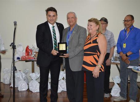 Geraldo Santana recebe Medalha da 55ª Legislatura da AL/RS durante almoço da Reserva Remunerada