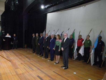 Presidente Ivo Izolan e Grêmio Geraldo Santana são homenageados pela Liga da Defesa Nacional