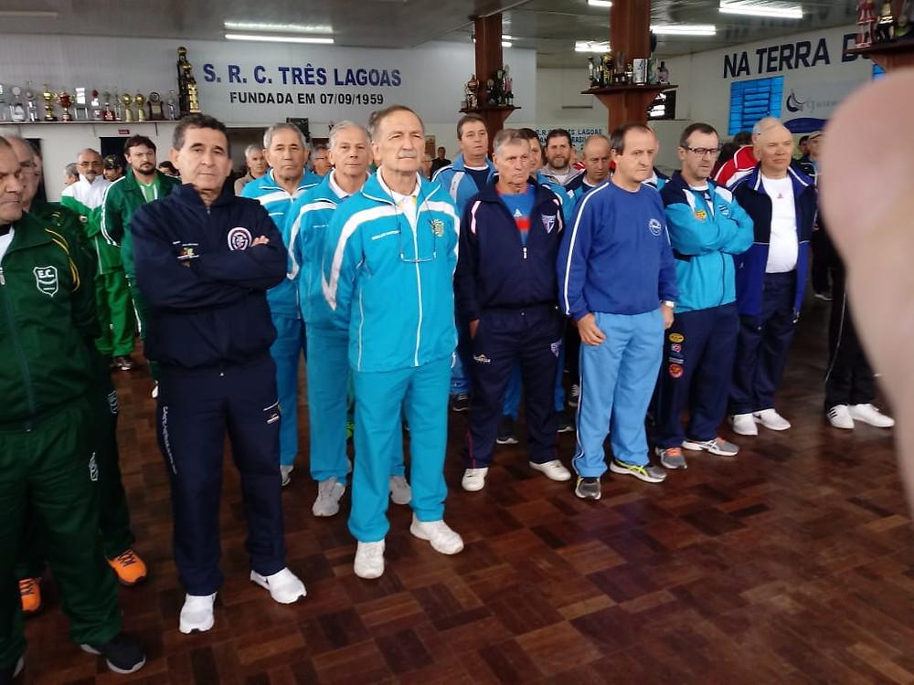 Bochófilos geraldinos durante a abertura oficial do evento.