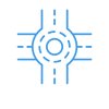 Marr Traffic Data Collection Roundabout Icon