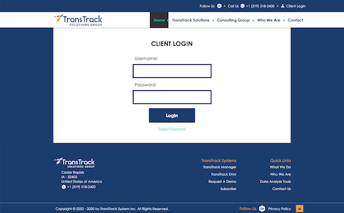 TransTrack Systems Login