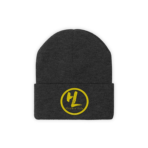 HL by HookieLife Knit Beanie (Sunshine Yellow Emblem)