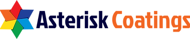 Asterisk Coatings logo use on white - re