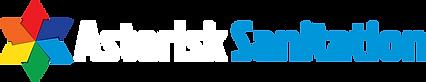 Asterisk Sanitation logo reversed - revi