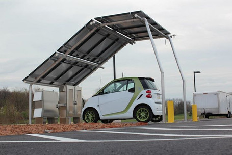 Solar Charging Carport Prototype Design at Phoenix Contact USA