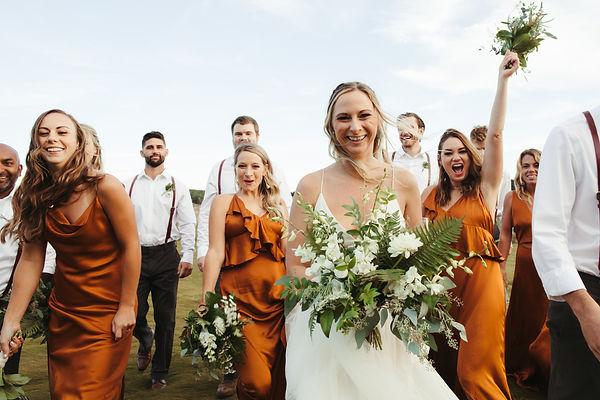 cape cod massachusetts wedding party celebrating captured by nikki bassette photography