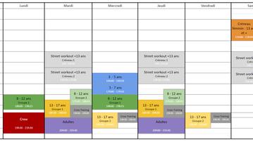 Modification horaires 8/12 ans - Groupe 2
