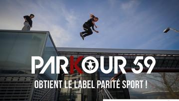 Parkour59 obtient le label parité sport !