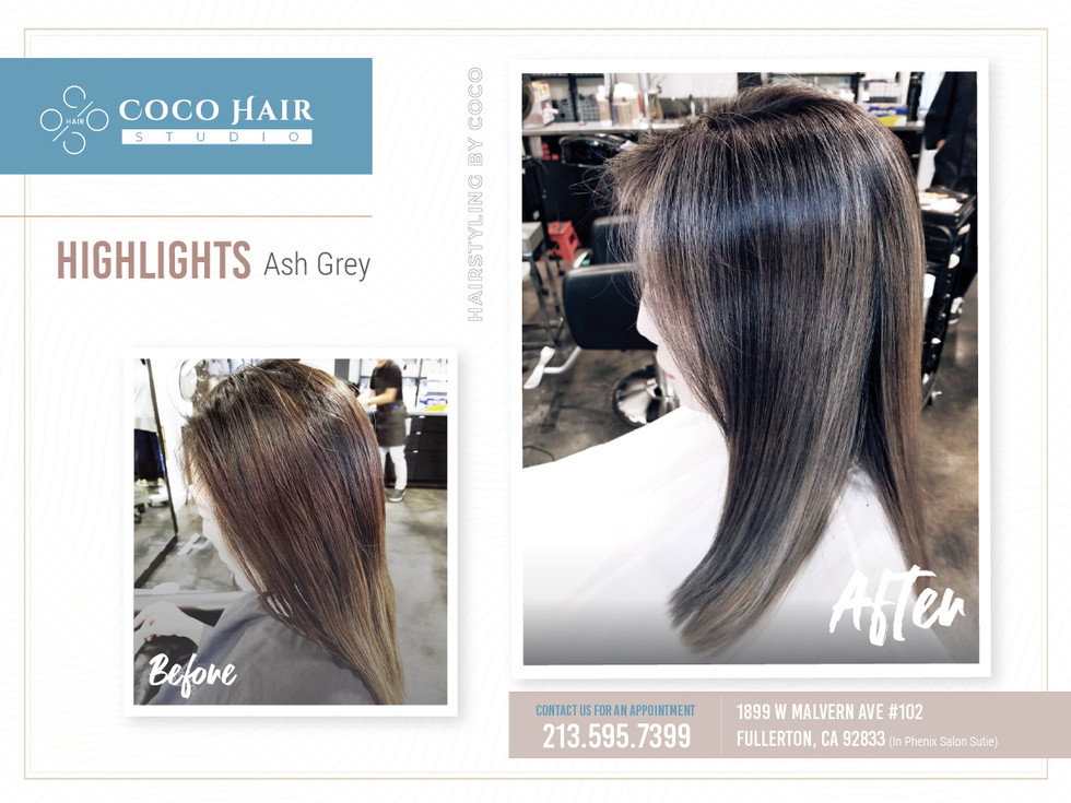 Before & After | Highlights Ash Grey 2