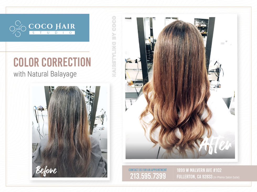 Before & After | Color Correction with Natural Balayage