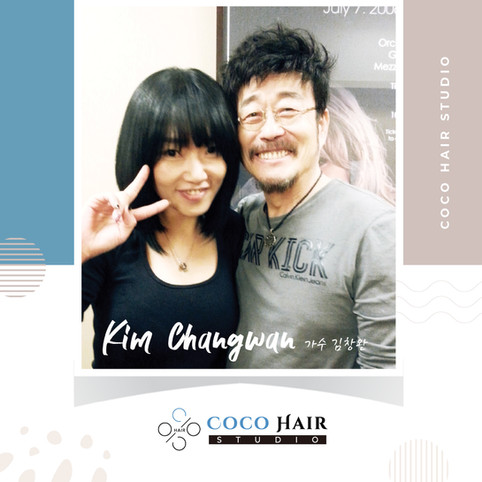Coco hair studio_photo with 가수 김창완 Kim C
