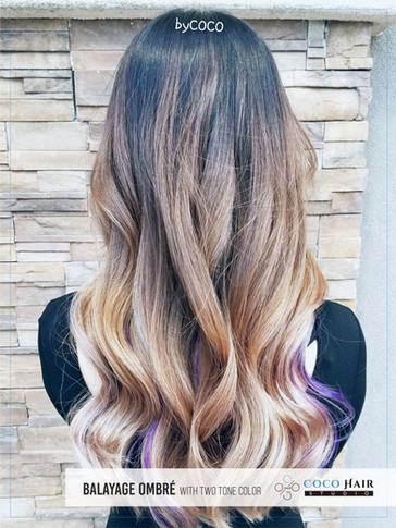 Balayage Ombré with Two Tone Color