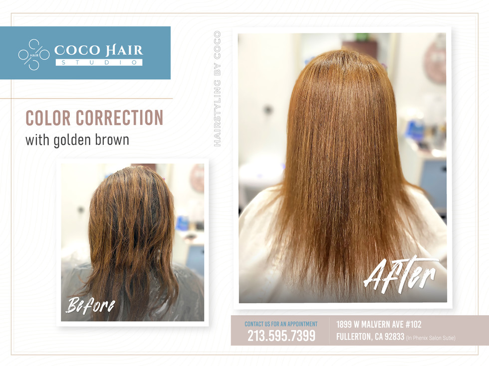 Before & After |  Golden Brown