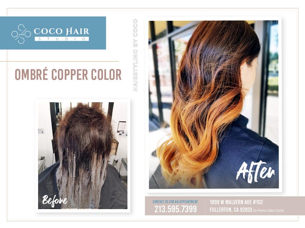 Before & After | Ombré Copper Color