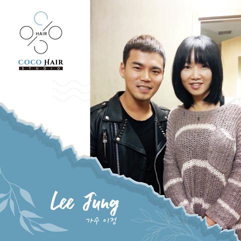 Coco hair studio_photo with 가수 이정 Lee Ju