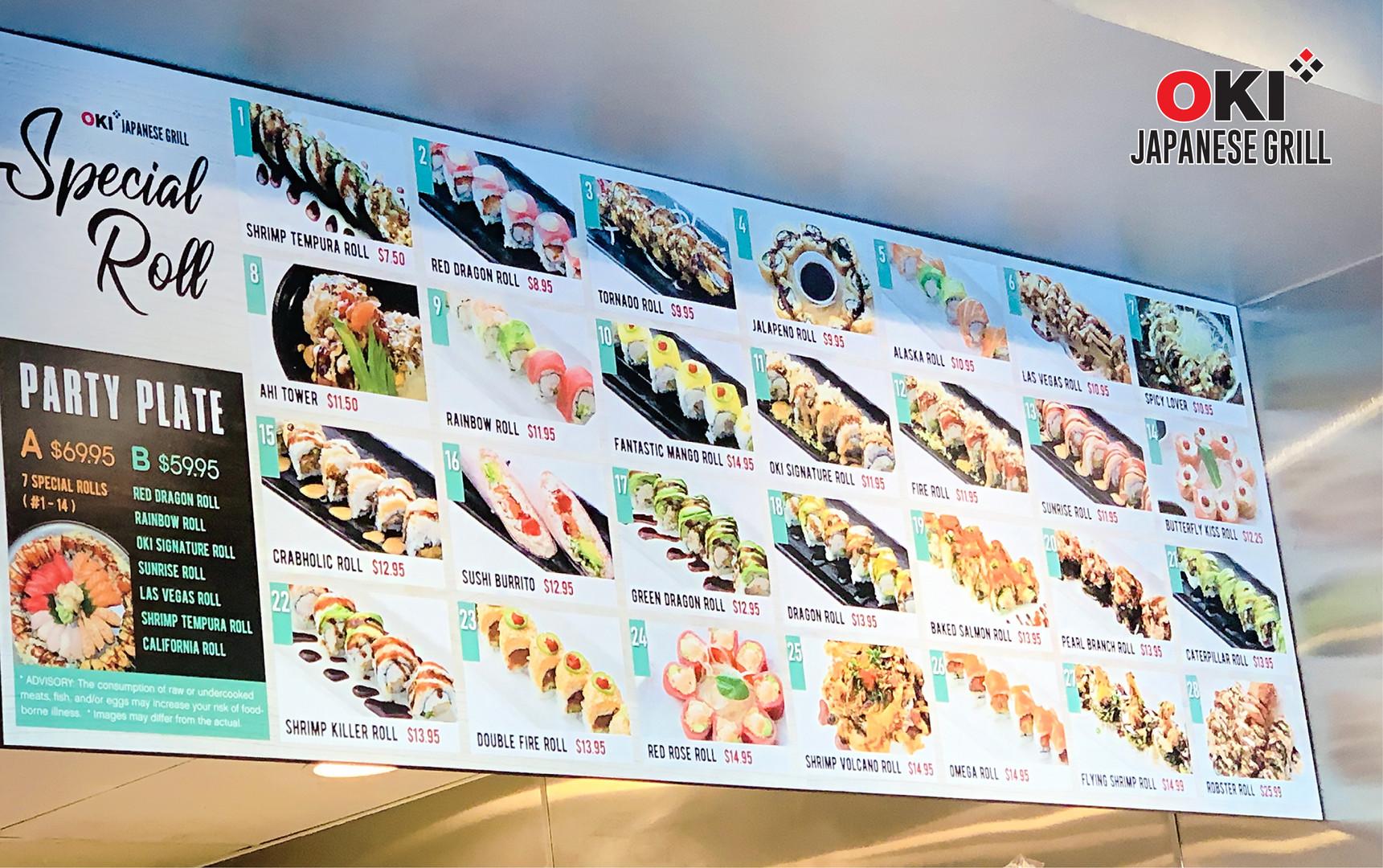 Oki Japanese Grill_Food Menu