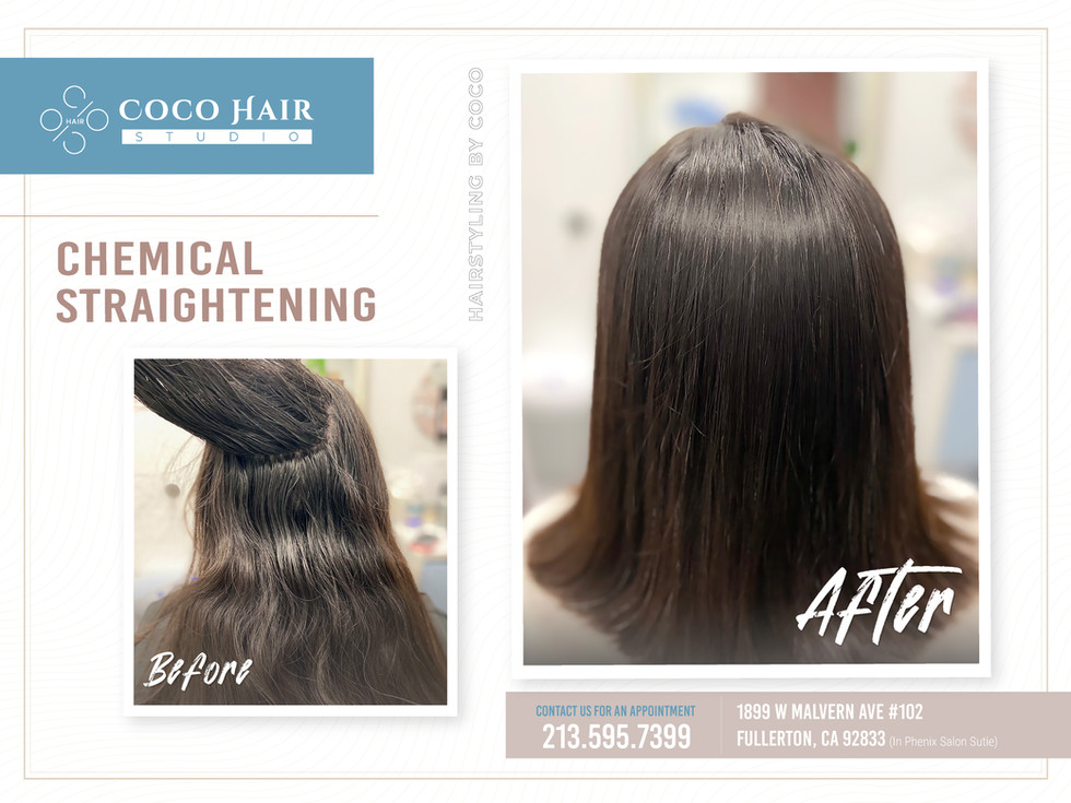 Before & After | Chemical Straightening