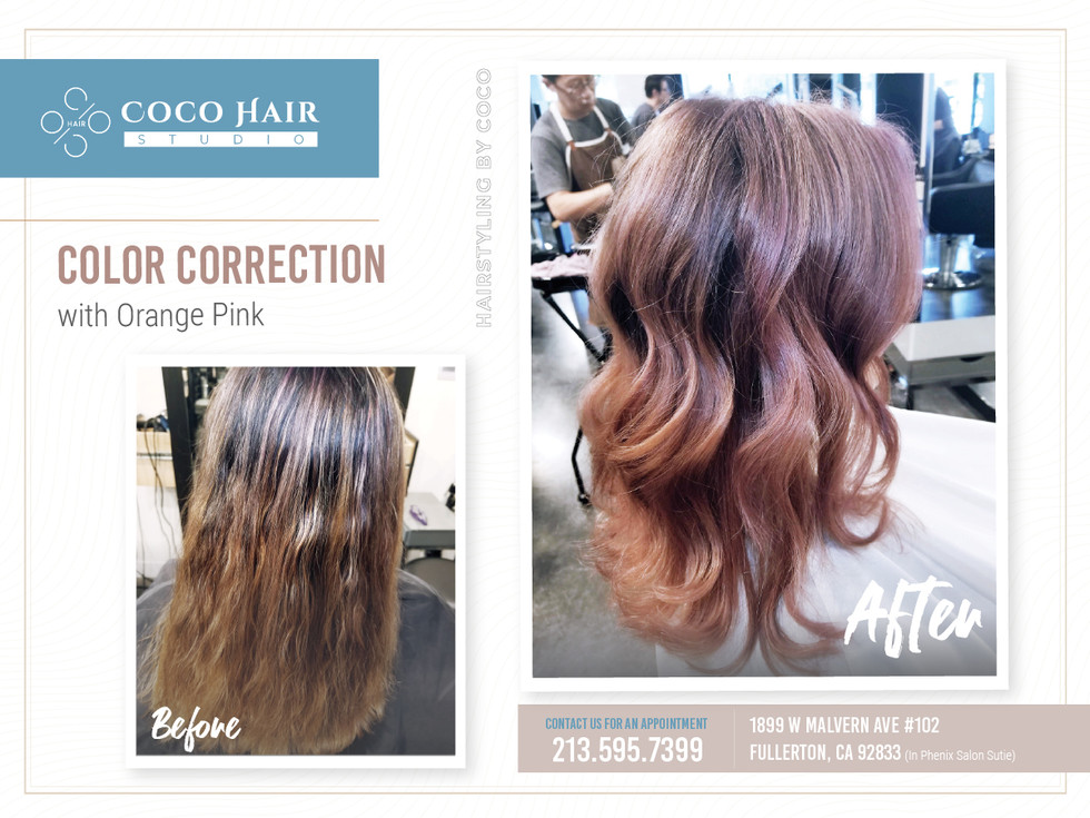 Before & After | Color Correction with Orange Pink