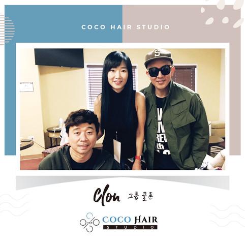 Coco hair studio_photo with 그룹 클론 (Clon)