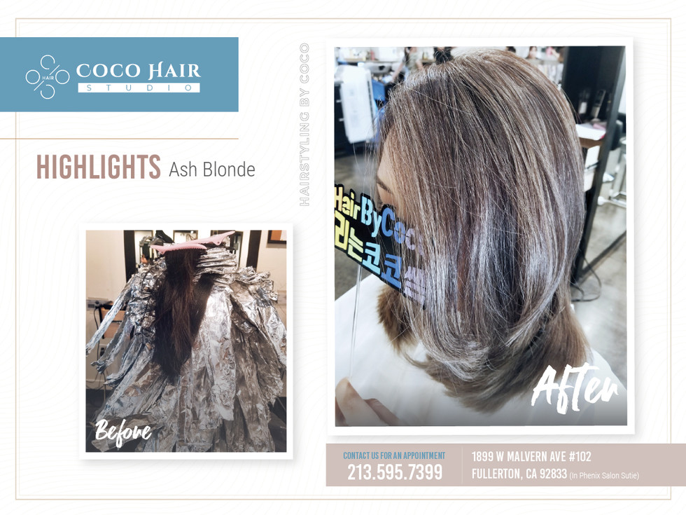 Before & After | Highlights Ash Blonde 2