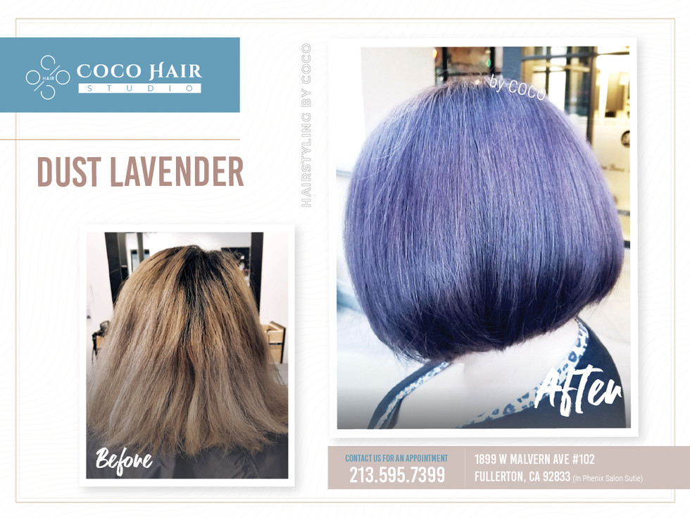 Before & After | Dust Lavender