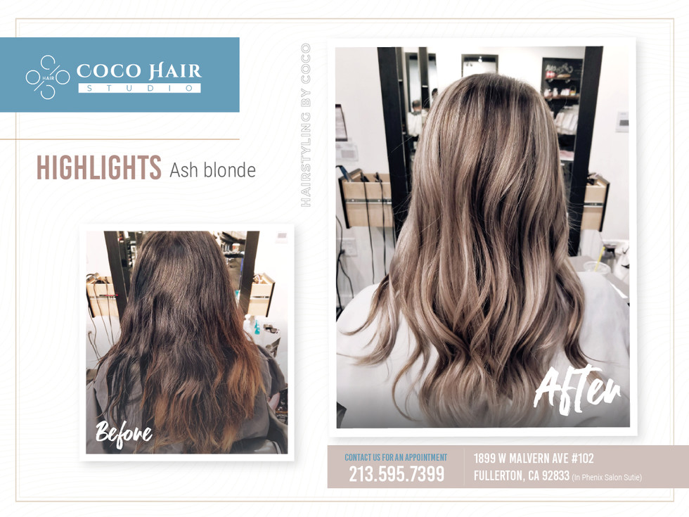 Before & After | Highlights Ash Blonde