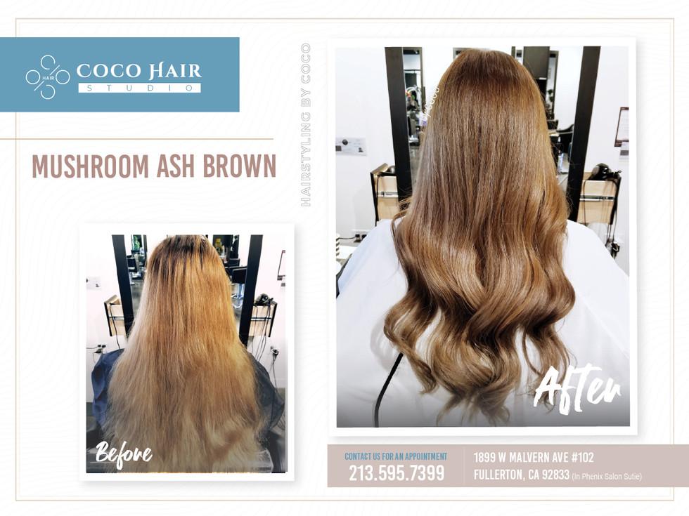 Before & After | Mushroom Ash Brown 2