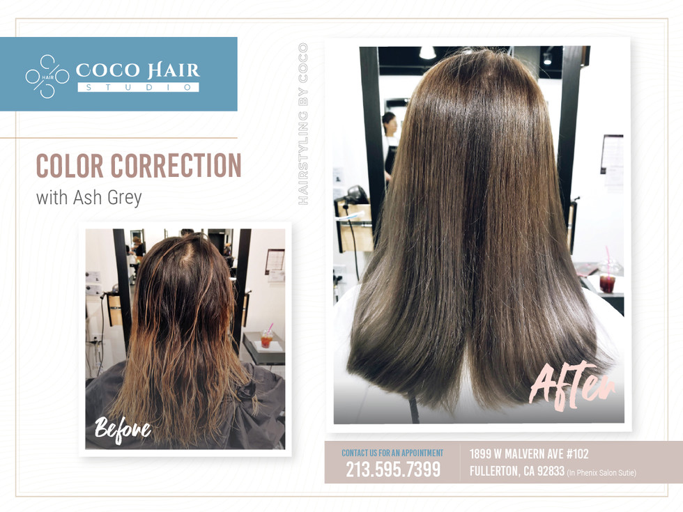 Before & After | Color Correction with Ash Grey