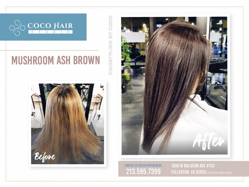 Before & After | Mushroom Ash Brown 1