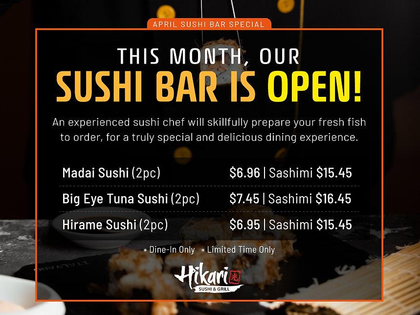 Hikari Sushi_April Sushi Bar Special_Apr