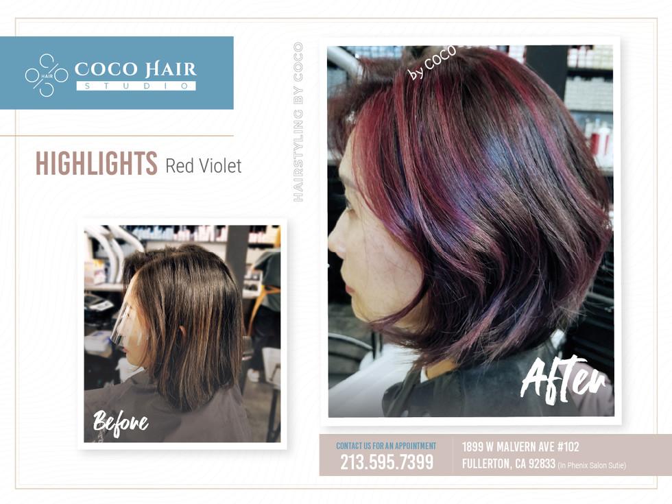 Before & After | Highlights Red Violet