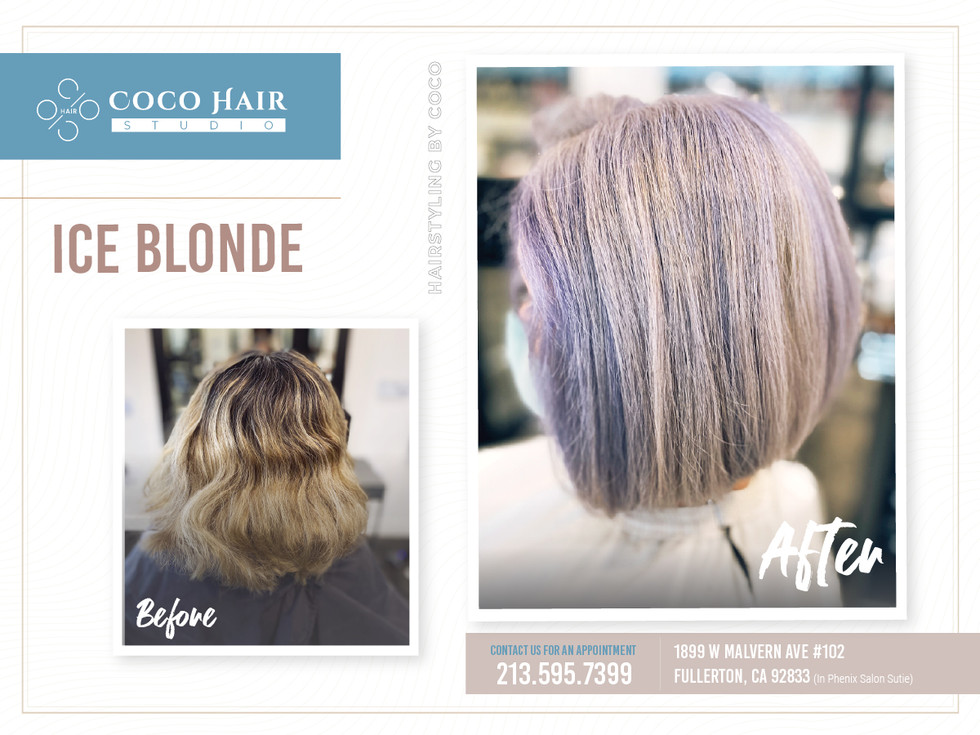 Before & After | Ice Blonde 2