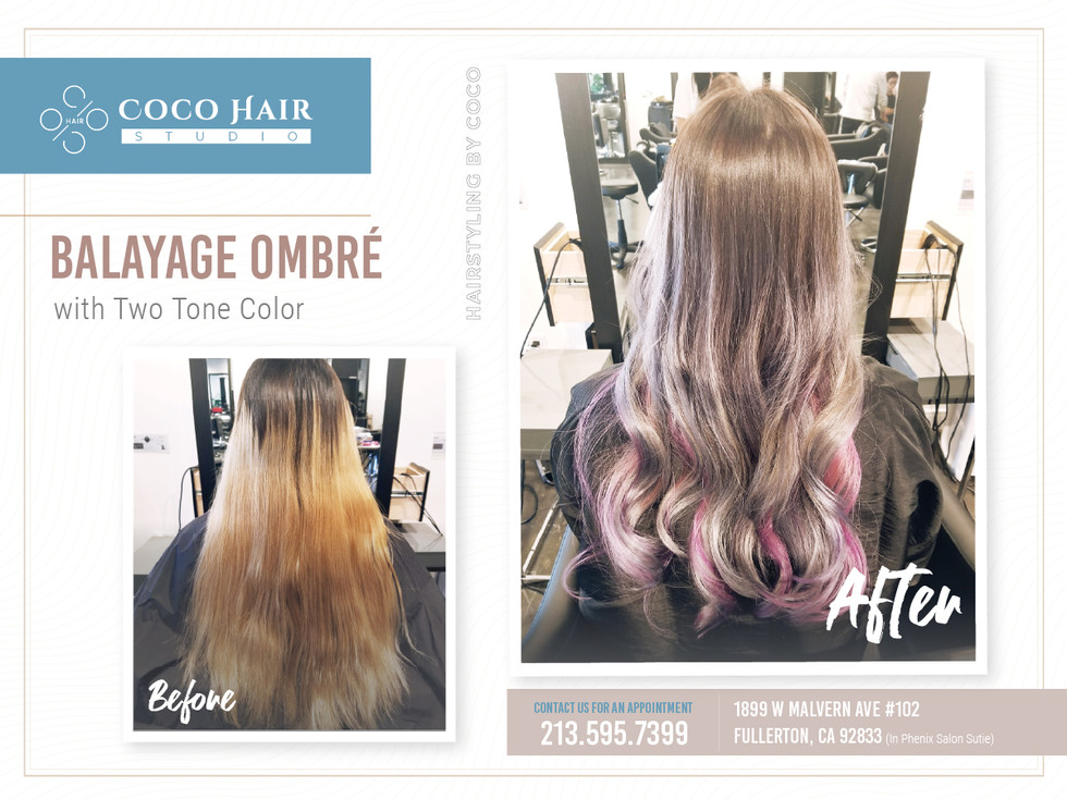 Before & After | Balayage Ombré with Two Tone Color