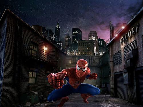 Spiderman Set Buildings