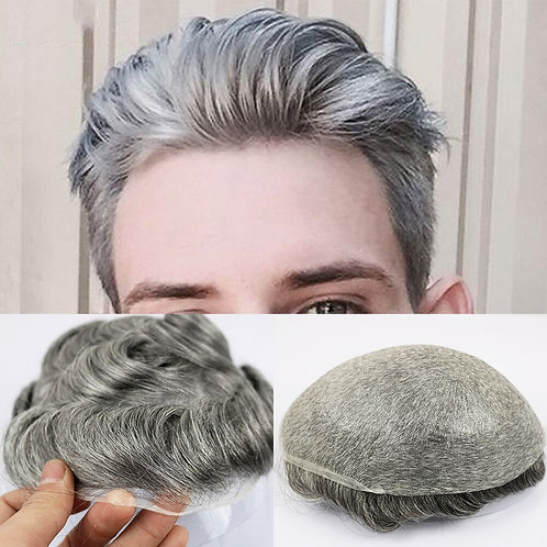 Eversilky 0.03-0.04 Thin Skin Men Men's Hair Pieces Replacement System 1B65