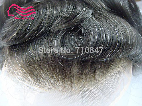 """Toupee Men 8x10""""  French Lace or Swiss Lace ,  100% Indian Remy Hair Replacement"""