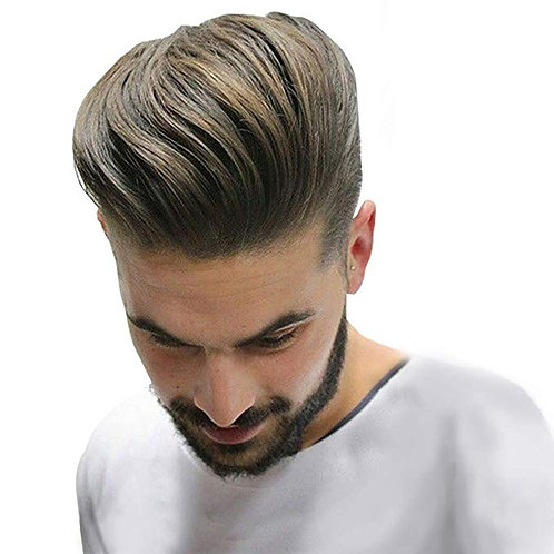 Durable and Breathable Skin+ Mono Men's Hair Toupee 100% Remy Human Hair Pieces