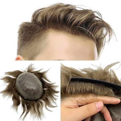 NG 02| Natural Hairline Herren Toupee 100% Euro-Touch Echthaar Front