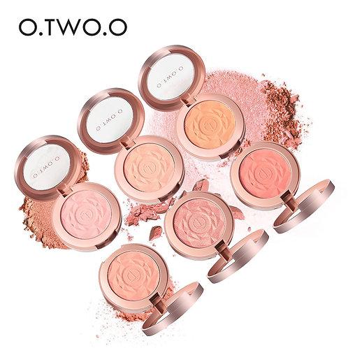 O.TWO.O Face Blusher Powder Rouge Makeup Cheek Blusher Powder Minerals Palette