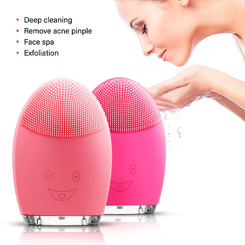 Rechargeable Electric Waterproof Silicone Facial Cleansing Device Face
