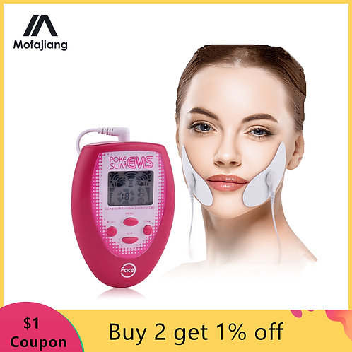 Electrotherapy Device Slimming Face Pulse Massager Jaw Exerciser EMS Facial Body