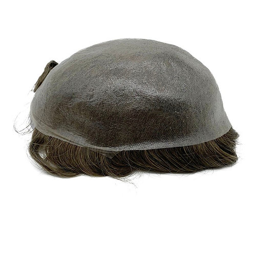 Super Thin Skin Men Toupee Strong Knot Hair Replacement