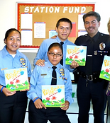 LAPD Topanga Officer with Cadets