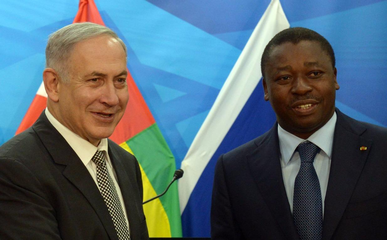 ראש הממשלה בנימין נתניהו נפגש עם נשיא טוגו Gnassingbe Eyademe במשרד רה''מ . צילום חיים צח  לע''מ 10.