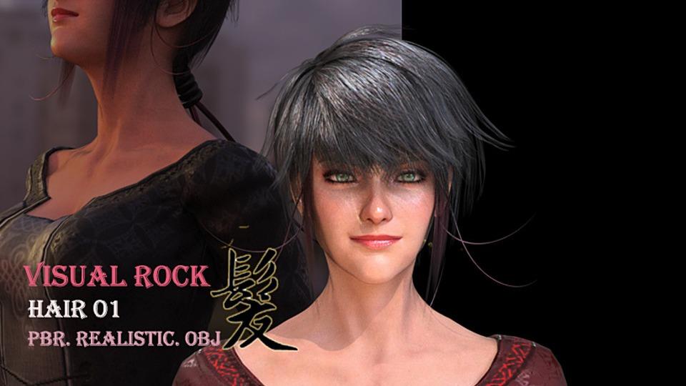 Visual Rock - Hair01