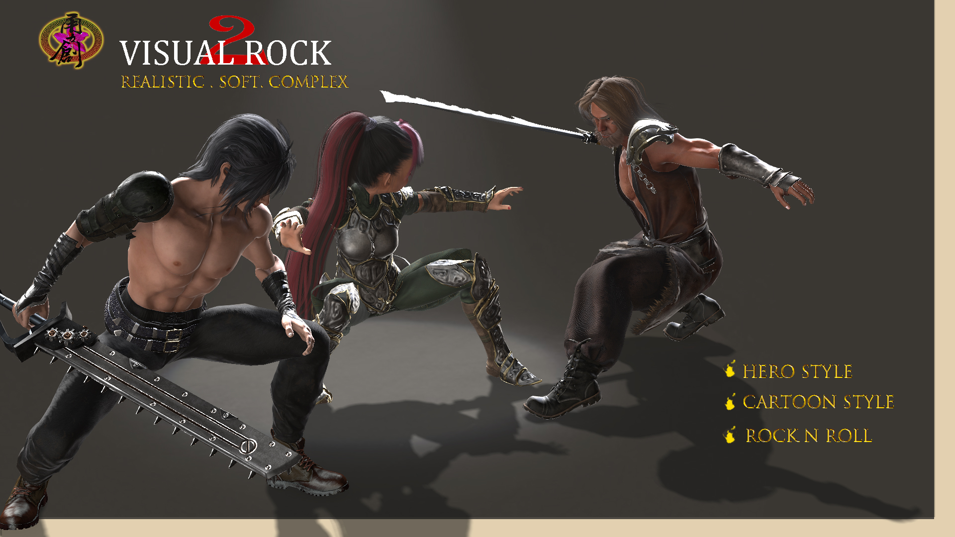 Visual Rock 2 - Hair Pack